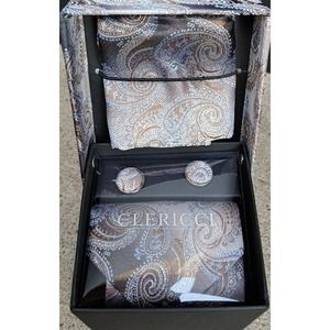 New Mens Tie Gift Set In Box Clericci
